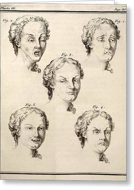 1749 Human Emotions And Expression Buffon Greeting Card by Paul D Stewart