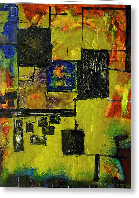 Greeting Card featuring the painting Untitled by Teddy Campagna