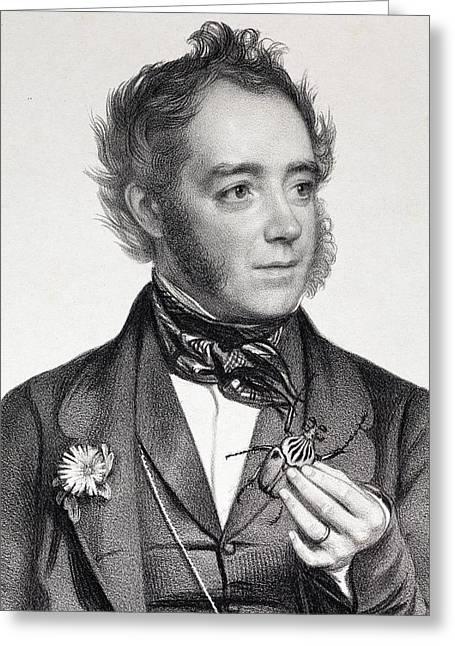 1849 John Obadiah Westwood Entomologist Greeting Card