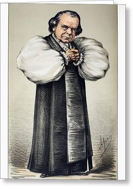 1869 \soapy Sam\ Wilberforce Vanity Fair Greeting Card