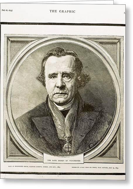 1873 Bishop Samuel Wilberforce Death Greeting Card