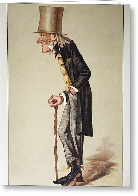 1873 Richard Owen 'old Bones' Vanity Fair Greeting Card by Paul D Stewart