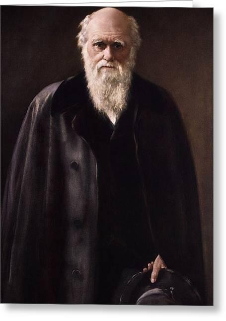 1881 Charles Darwin Portrait Aftr Collier Greeting Card by Paul D Stewart
