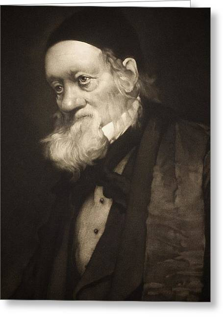 1889 Sir Richard Owen Portrait Old Age Cu Greeting Card by Paul D Stewart