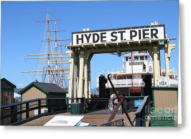 1890 Steam Ferryboat Eureka At The Hyde Street Pier In San Francisco California . 7d14119 Greeting Card