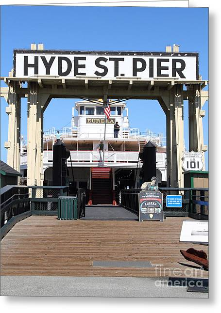 1890 Steam Ferryboat Eureka At The Hyde Street Pier In San Francisco California . 7d15117 Greeting Card