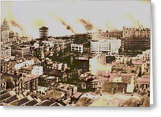 1906 San Francisco Earthquake Greeting Card by Padre Art