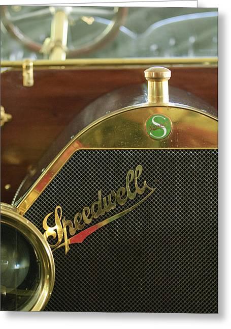 1911 Speedwell 50hp Toy Tonneau Greeting Card by Jill Reger