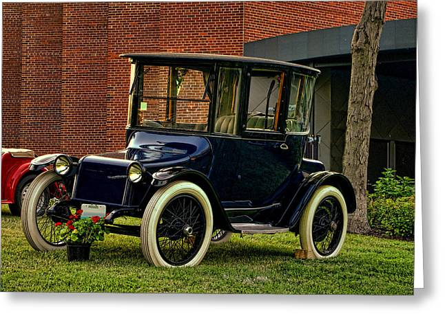 1917 Detroit Electric Model 68 Greeting Card