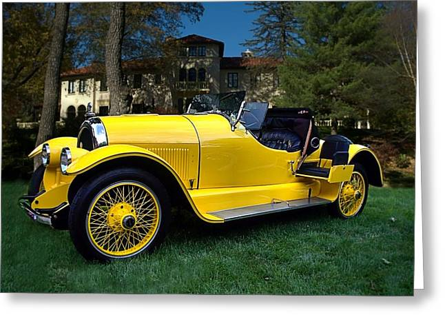 1920 Kissell Silver Special Speedster Gold Bug Greeting Card by Tim McCullough