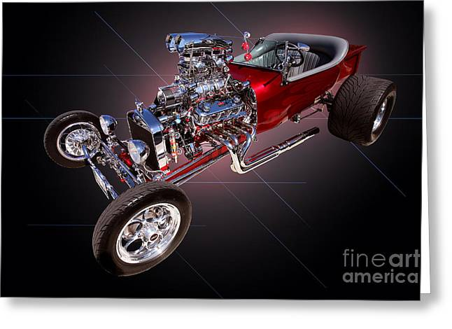 1923 Classic Ford T Bucket Greeting Card by Jim Carrell