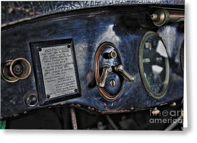 1924 Packard - Dash Greeting Card by Kaye Menner