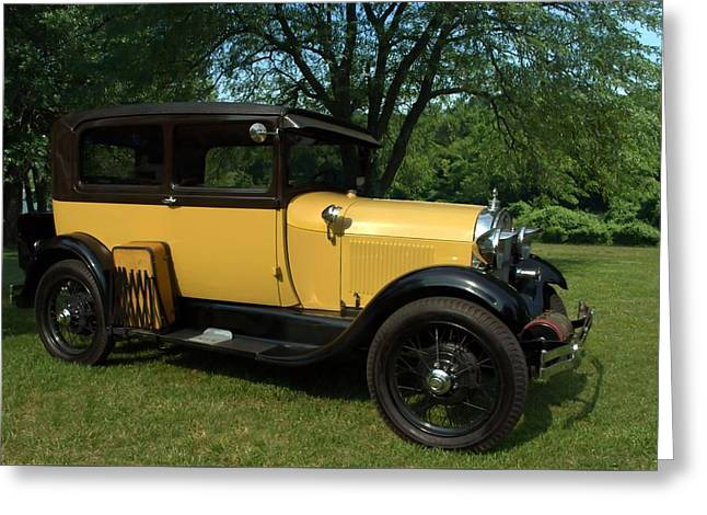 1928-29 Ford Model A Sedan Greeting Card by Tim McCullough