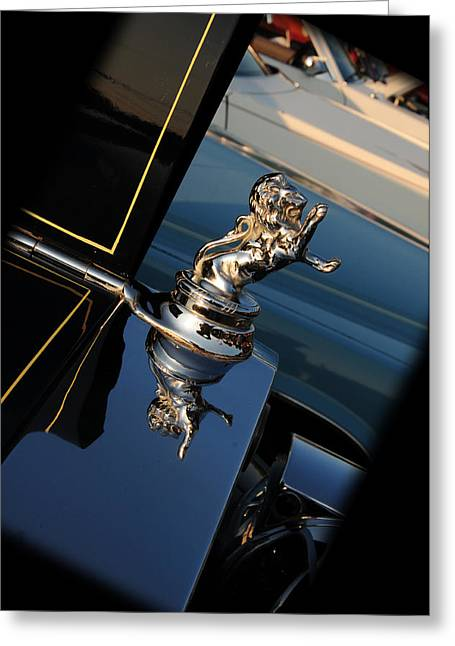 1928 Franklin Sedan Hood Ornament Greeting Card by Paul Ward