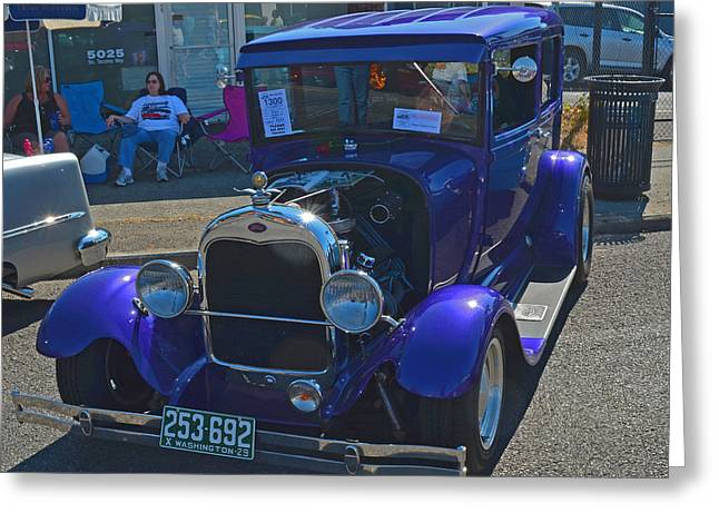 Greeting Card featuring the photograph 1929 Ford Model A by Tikvah's Hope