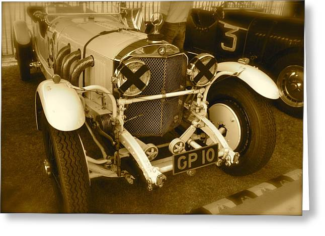 1930 Mercedes Benz 710 Ss Rennsport Greeting Card by John Colley