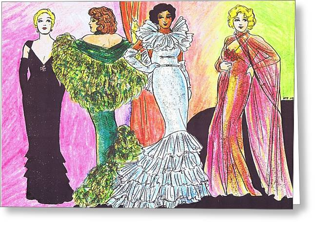 1930s Gowns Greeting Card