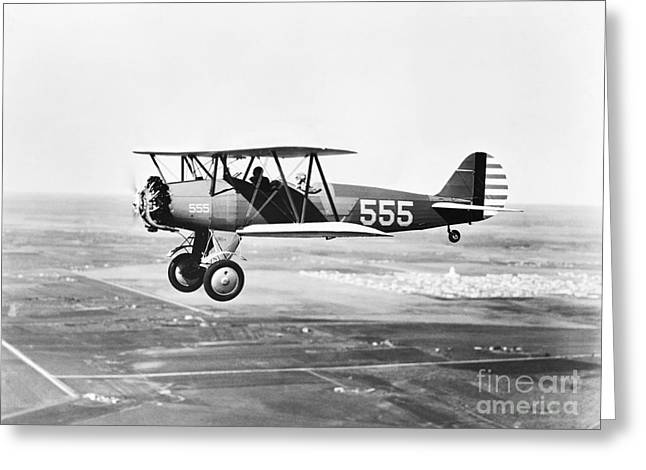 1930s Pilot Training Greeting Card by Omikron