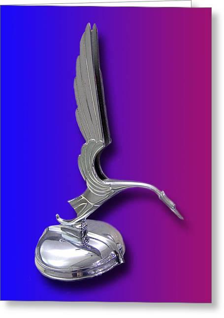 1931 Cadillac V-16 Heron Mascot Greeting Card by Jack Pumphrey
