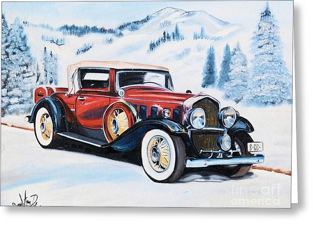 1931 La Salle Convertible Coupe Greeting Card