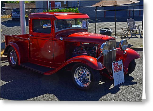 Greeting Card featuring the photograph 1932 Ford Pick Up by Tikvah's Hope