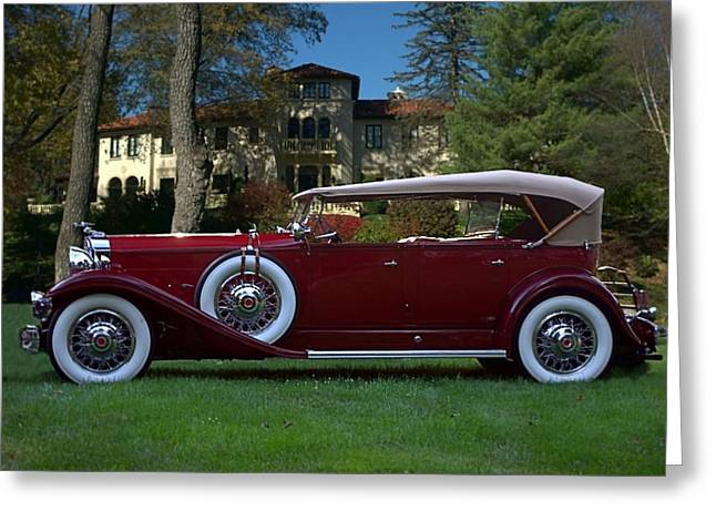 1932 Packard 903 Deluxe Eight Sport Phaeton Greeting Card