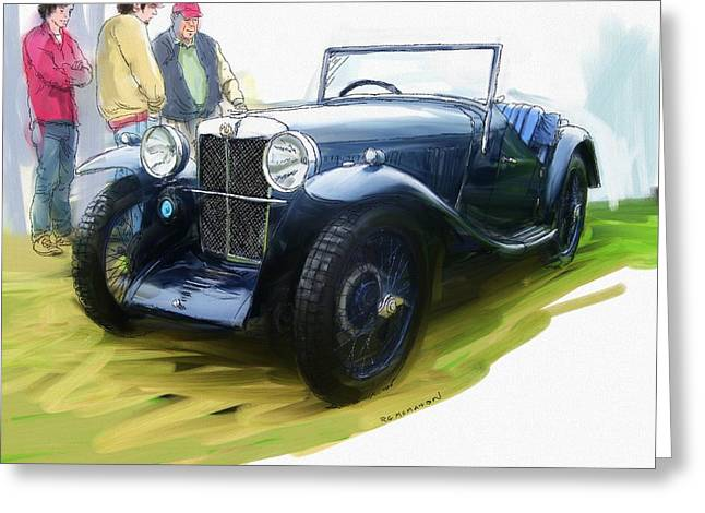1933 M G J2 Greeting Card
