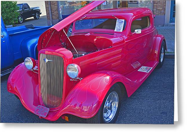 1934 Chevy Coupe Greeting Card by Tikvah's Hope