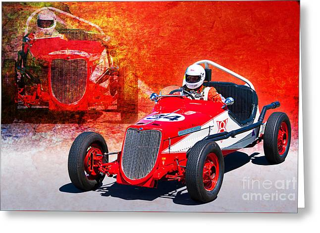1934 Ford Indy Special Greeting Card by Stuart Row