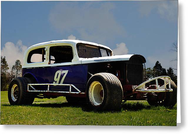 1934 Ford Stock Car Greeting Card by Bill Cannon