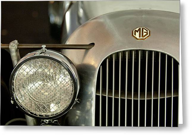 1934 Mg Pa Midget Supercharged Special Speedster Grille Greeting Card by Jill Reger