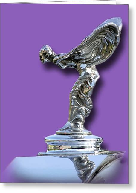 1934 Rolls Royce Spirit Mascot Greeting Card by Jack Pumphrey