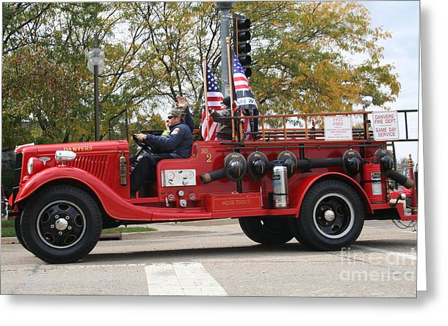 1935 Ford Fire Truck Greeting Card by Roger Look
