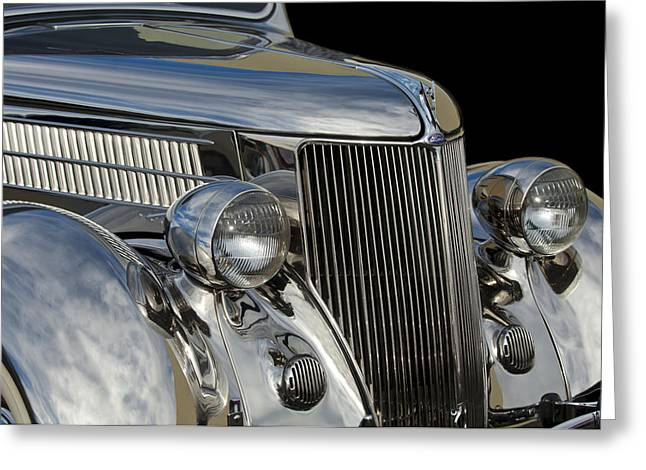 1936 Ford - Stainless Steel Body Greeting Card by Jill Reger
