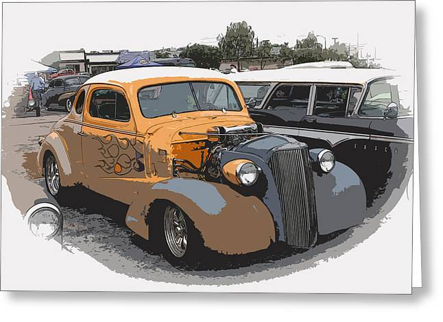 1937 Chevy Coupe Greeting Card by Steve McKinzie