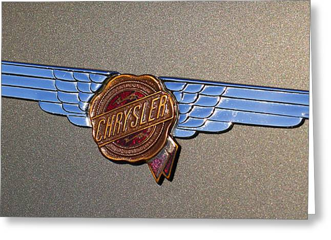 1937 Chrysler Airflow Emblem Greeting Card by Gordon Dean II