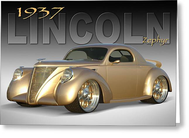 1937 Lincoln Zephyr Greeting Card by Mike McGlothlen