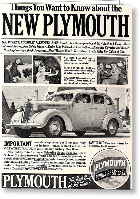 1937 Plymouth  Greeting Card