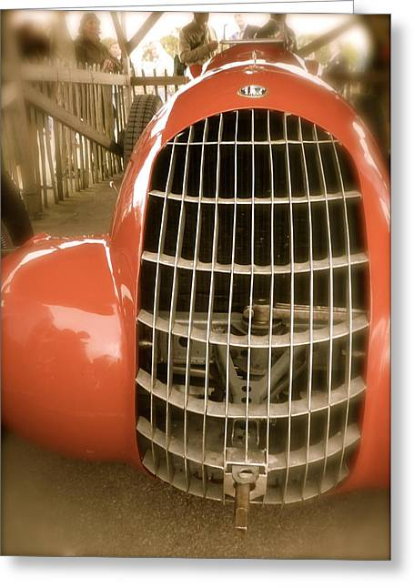 1938 Alfa Romeo 308c Front Grill Greeting Card by John Colley