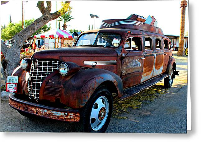 Greeting Card featuring the photograph 1939 Chevy Sedan Limo by Jo Sheehan