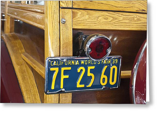 1939 Pontiac Silver Streak Deluxe Station Wagon Taillight Greeting Card by Jill Reger