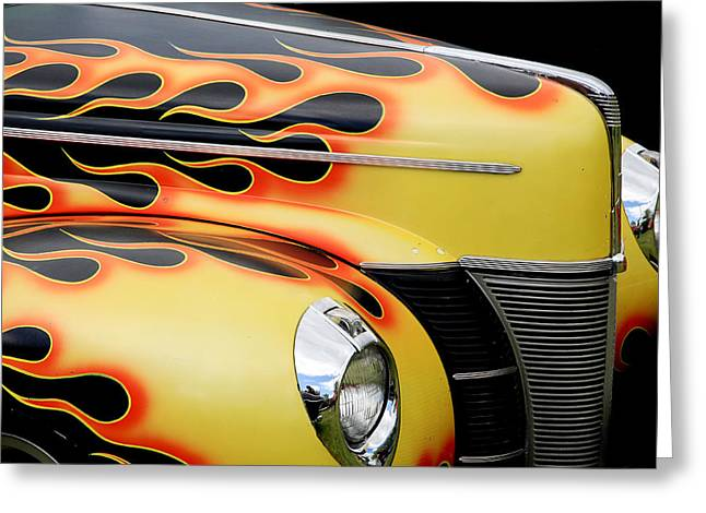 1940 Flames Greeting Card by Steve McKinzie