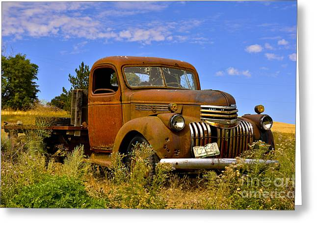 1940's Chevy Truck 2 Greeting Card by Camille Lyver