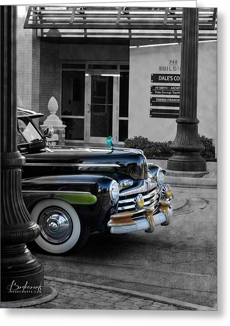 1940s Ford Out Of The Past Greeting Card by Robin Lewis