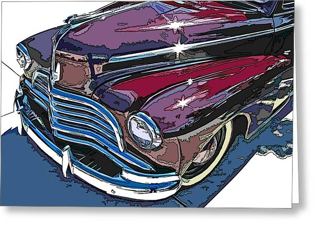 1946 Chevrolet Front Study Greeting Card by Samuel Sheats