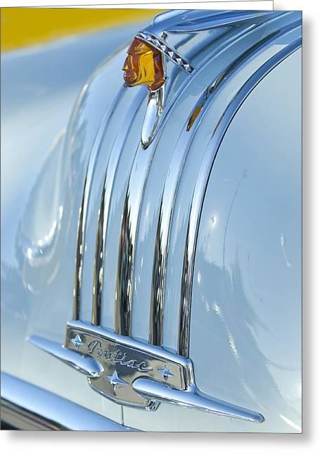 1948 Pontiac Hood Ornament 3 Greeting Card by Jill Reger