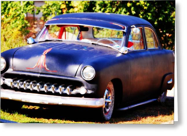 Greeting Card featuring the photograph 1950 Ford  Vintage by Peggy Franz