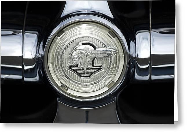 1950 Pontiac Grille Emblem 2 Greeting Card by Jill Reger