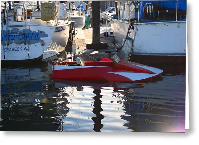 Greeting Card featuring the photograph 1950's Custom Hydroplane by Kym Backland