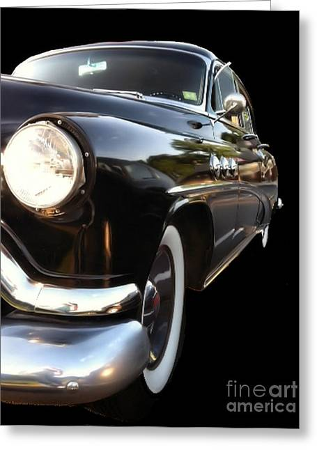 Greeting Card featuring the photograph 1952 Buick Side View by Elizabeth Coats